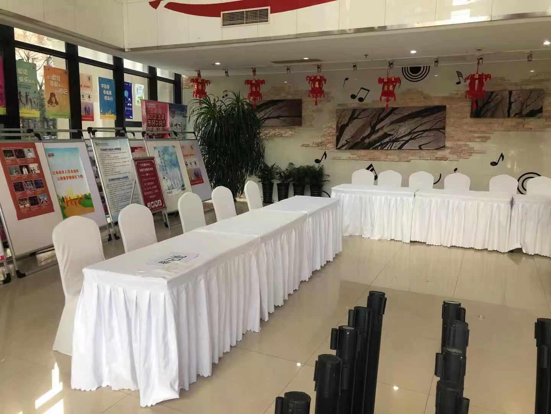 上海庐向路长条桌 宴会椅 一米线 千亿体育下载摆放现场
