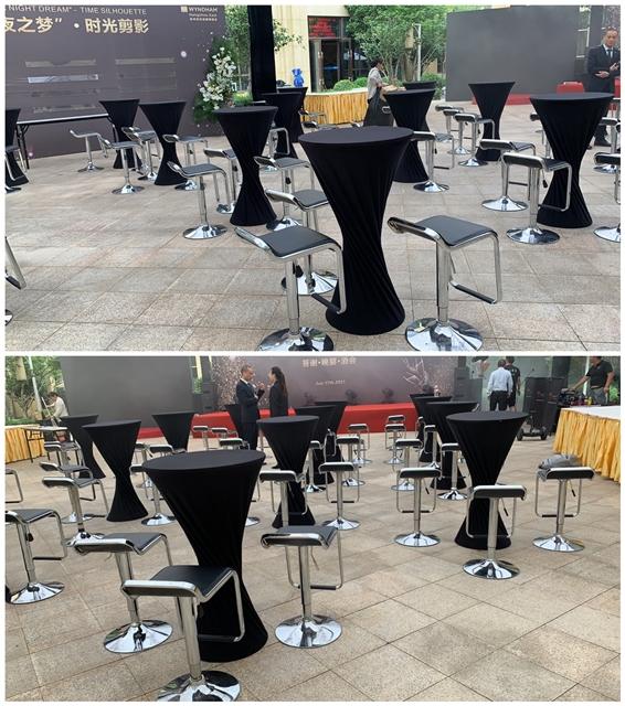 杭州市英冠德姆酒店摆放完成:吧桌椅千亿体育下载