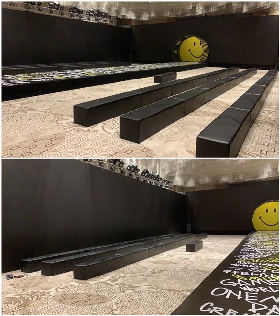 杭州萧山博地中心摆放完成:沙发凳千亿体育下载