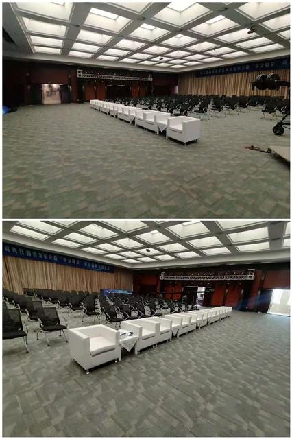 北京世通大厦:沙发千亿体育下载摆放完成
