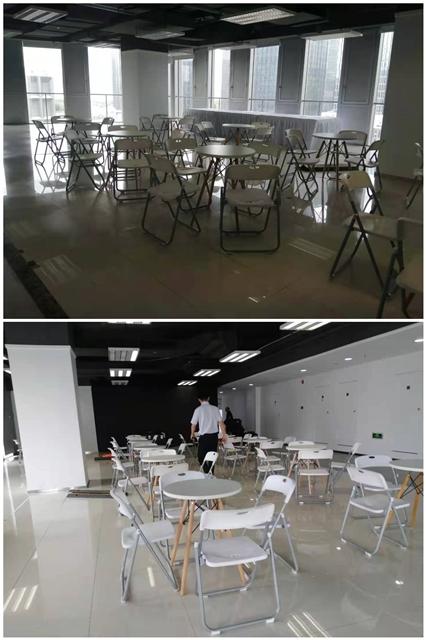 深圳南山区软件产业园:桌椅摆放已完成